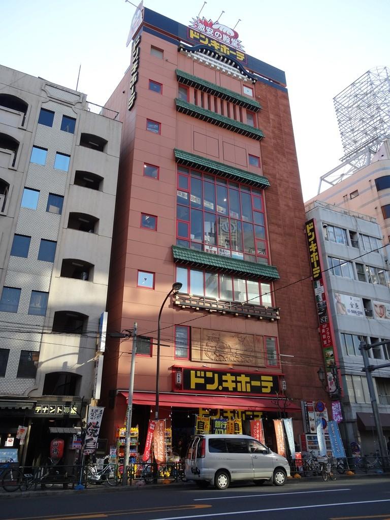 上野広小路交差点をさらに西へ進みました。ドンキホーテ発見。